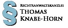 Rechtsanwawaltskanzlei Thomas Knabe-Horn Logo